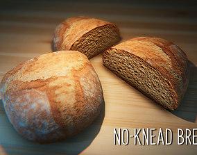 3D model No-Knead Bread