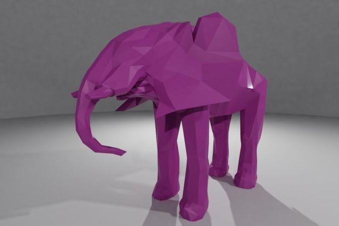 elephant 3d model stl 1