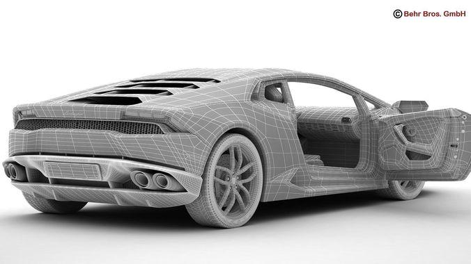 Lamborghini Huracan LP 610 4 3D Model Max 3ds Fbx C4d