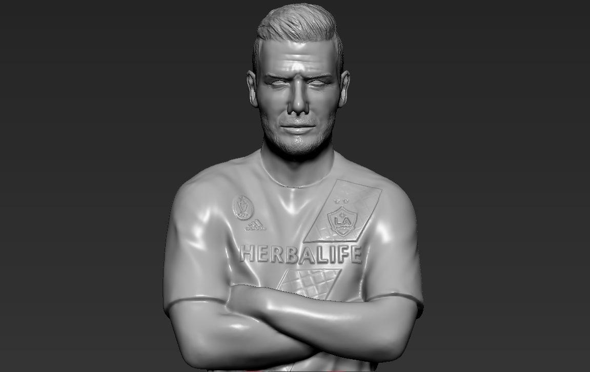 David Beckham 3D printing ready stl obj formats