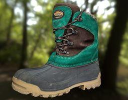 Boot lowpoly footwear 3D model