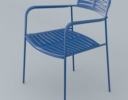 3D model Mall Chair 10 Colors Low Poly