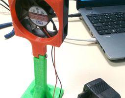 Fan mount for desktop 3D print model