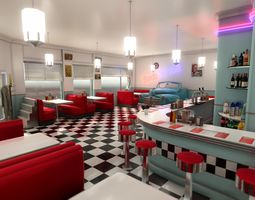 3D asset Diner