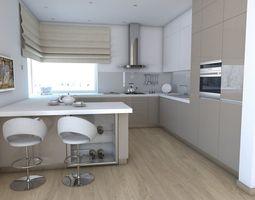 3D interior Kitchen