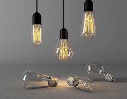 3D Edison light bulbs architectural
