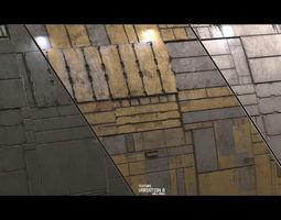 Scifi Wall Panel Texture Set C 3D