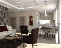 3d living room 4