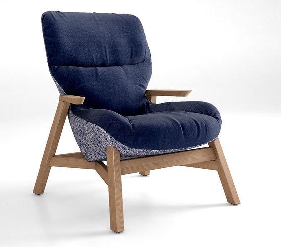 Jardan Sweeney Armchair 3d Model Max Obj