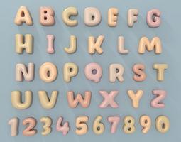 3D asset Cartoon Alphabet 2