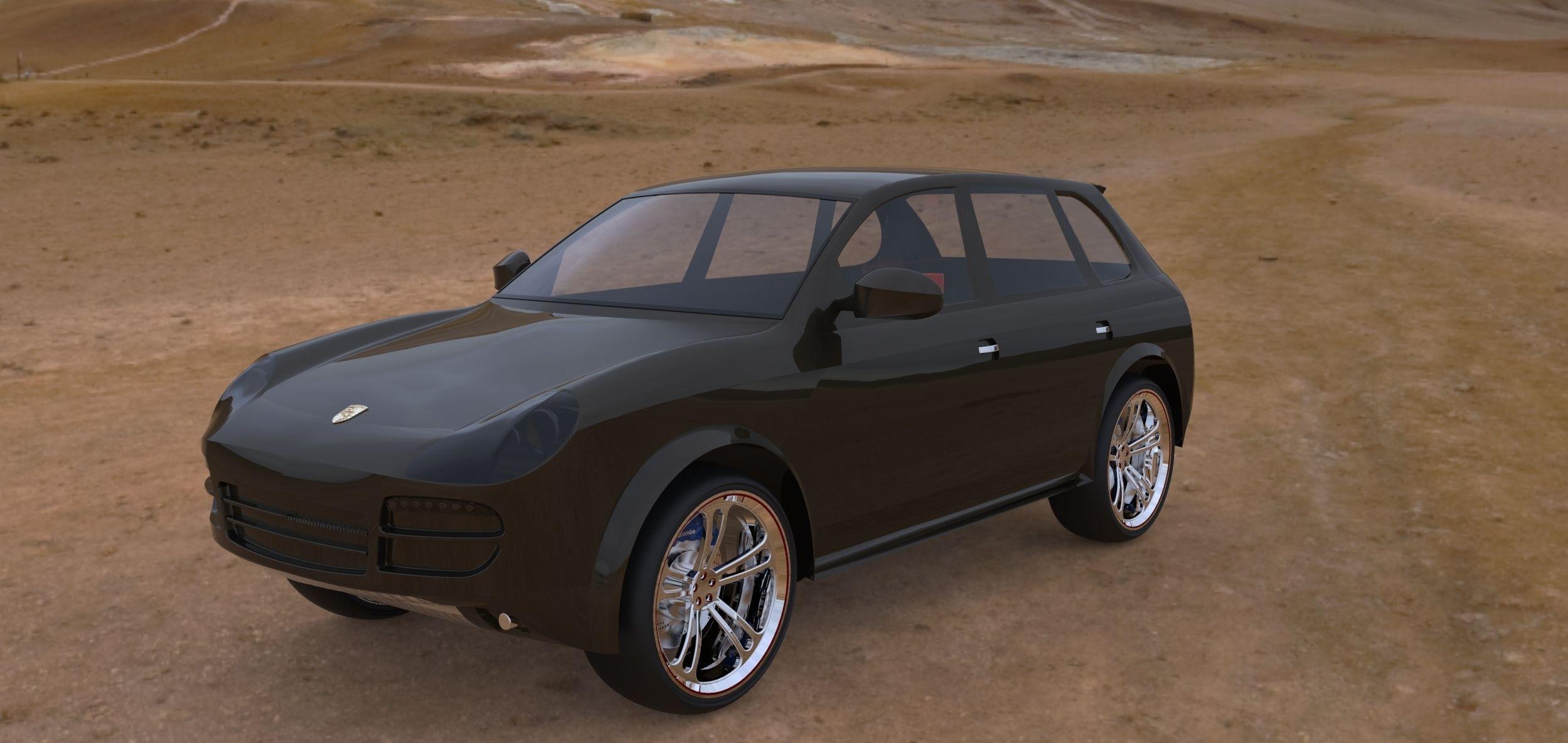 porsche cayenne 2008 3d model max obj 3ds fbx sldprt sldasm slddrw 3