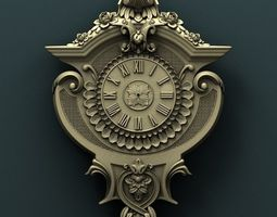 Wall clock 3d stl model for cnc miniatures