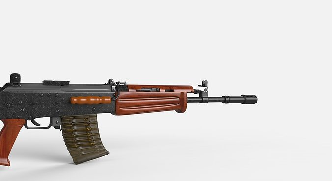 insas 1b1 assault rifle 3d model obj mtl dxf stl 3dm stp 1
