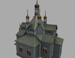 Hram Derevo01 3D Model