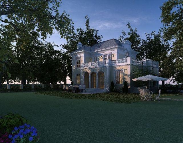 3d villa 050 3d model max 1