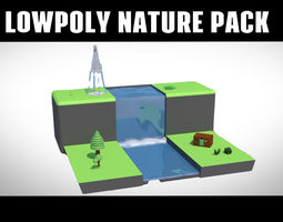 LOWPOLY NATURE PACK 3D model game-ready