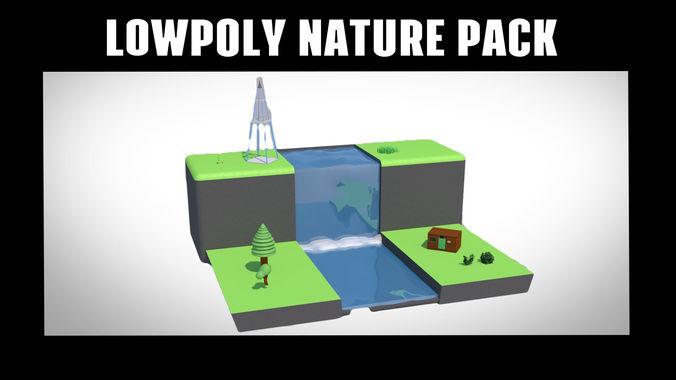 lowpoly nature pack 3d model obj mtl 3ds fbx c4d 1