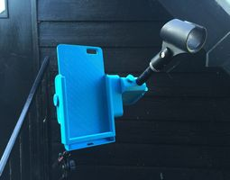 snap-clip iphone 6 plus microphone stand mount 3d print model