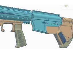 3D printable model m4 ar15 m16 bullpup conversion kit