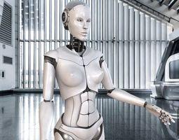 Artificial Intelligence AI robot 3D