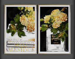 Picture Frames decoration 3D model game-ready