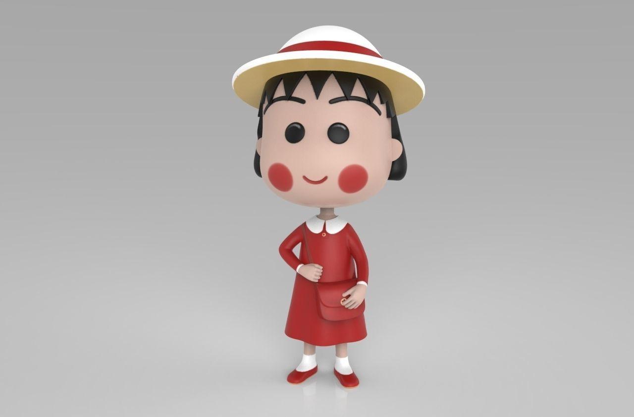 Chibi Maruko Chan Red Dress