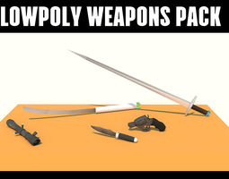 lowpoly weapons pack low-poly 3d model