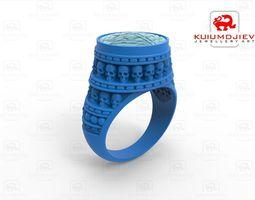 prints Skulls Ring 3D print model