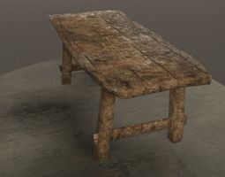 3D asset Old Table