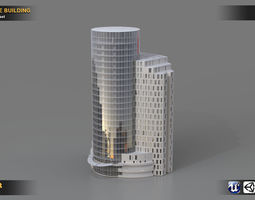 Detailed Office Building 3D model