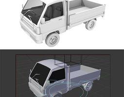 3D asset rigged pickup truck