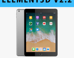 E3D - Apple iPad 9 7 2018 Space Gray 3D ar