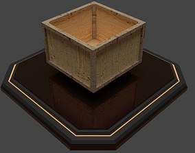 Wooden Box 3D asset VR / AR ready