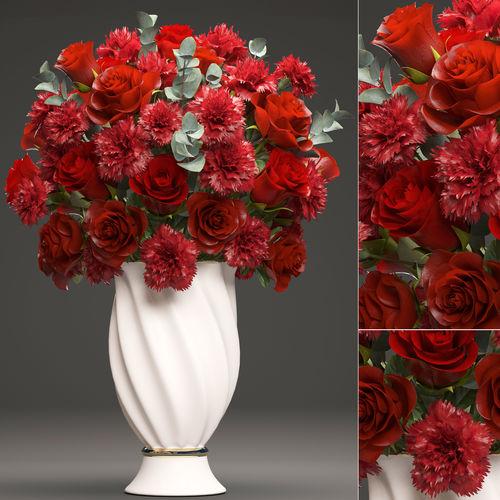 bouquet of red roses 3d model max obj mtl fbx 1