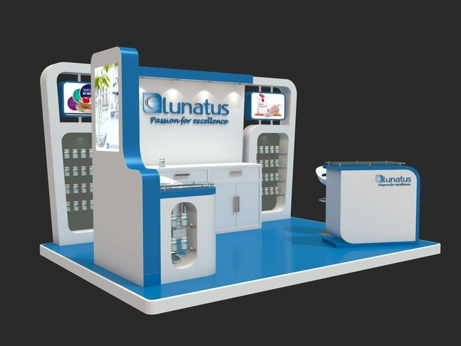 Simple Exhibition Stand Design : D model simple exhibition stand design cgtrader
