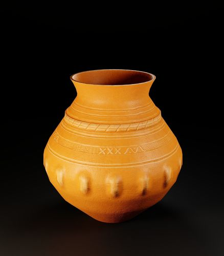 ancient pottery pot 6 3d model low-poly fbx 1