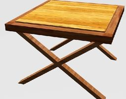 wooden table 3d printable model