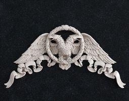Eagle bird corner 3D print model