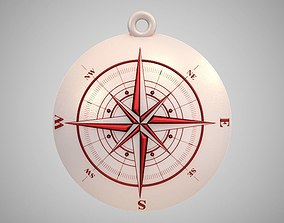 adventure 3D print model Compass Pendant