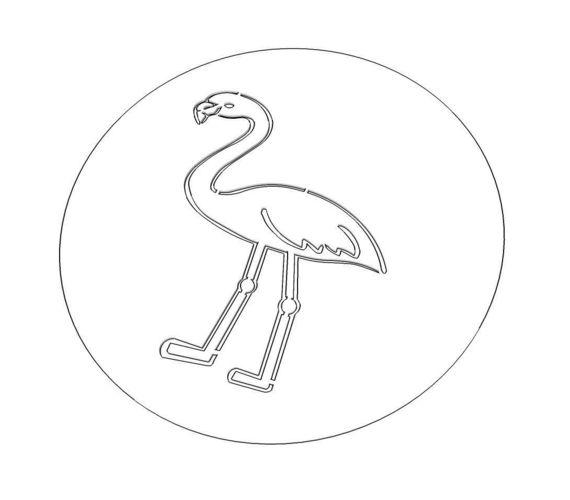 flamingo stencil 3d model stl 1