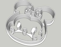 Tsum Tsum Minnie Cookie Cutter 3D printable model
