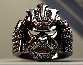 3D print model samurai Samurai helmet ring