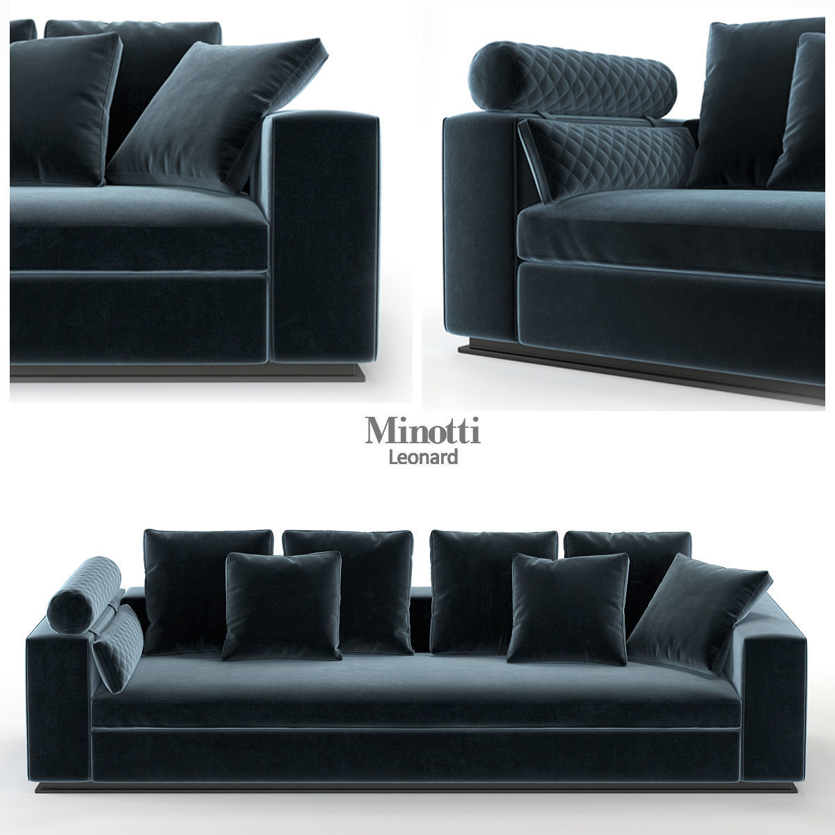 Best Buy Military Discount >> couch Minotti Leonard DIVANO CM 293 3D | CGTrader