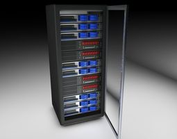 Rack CPU pack 3 in 1 3D Model