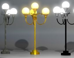 A collection of Street Lamps - Set I 3D model