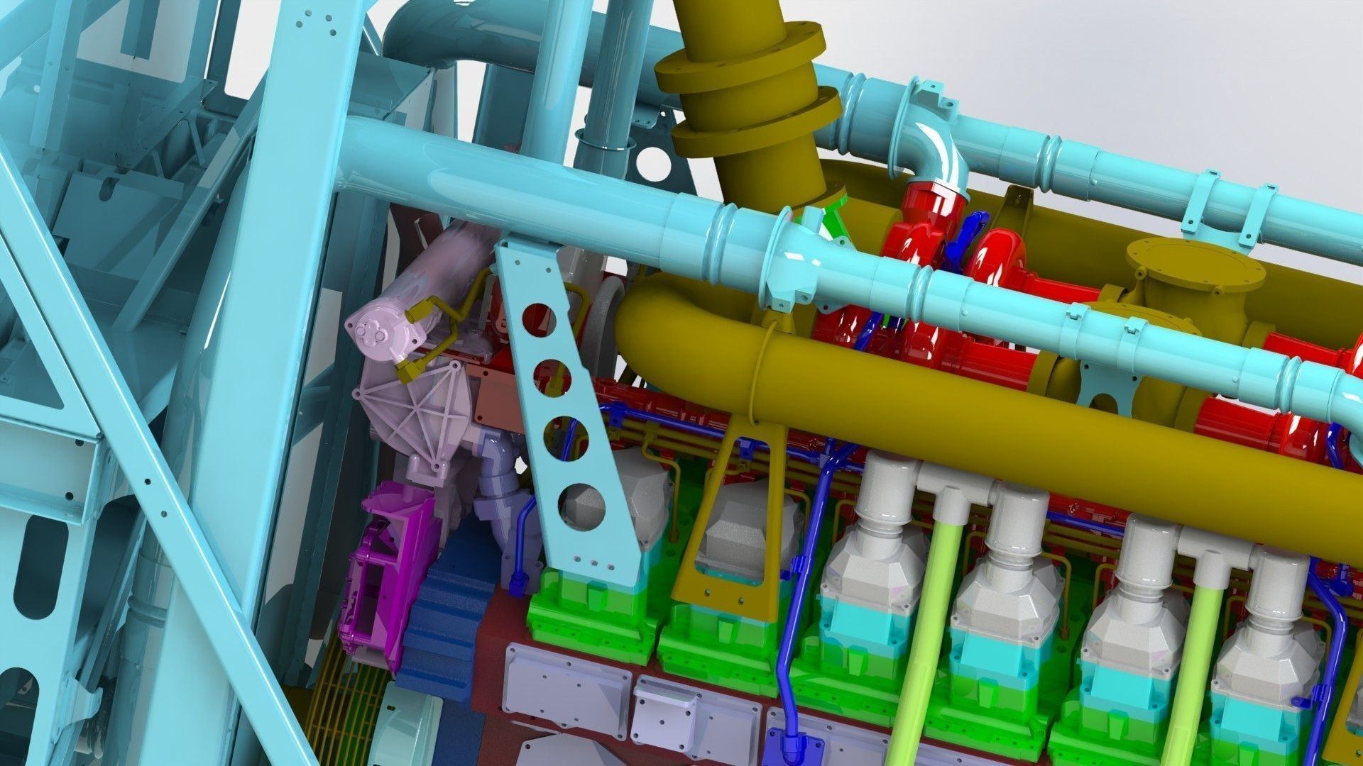 Giant generator sel engine 3D model
