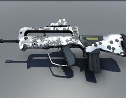 Famas G2 Bullpup Action Rifle 3D asset game-ready