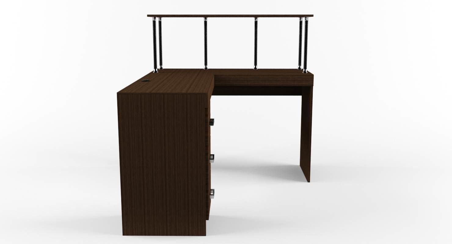 perfect desk design home for modern table designs wooden office shaped shape planning l also brown
