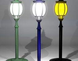 3D model game-ready A collection of Street Lamps - Set II