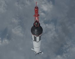 Mercury Redstone Rocket 3D model